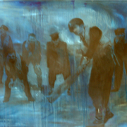 On the turning away (Oil on un-stretched Canvas)