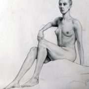 7 Day drawing pose (Pencil on paper)