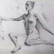 9 Day drawing pose (Pencil on paper)